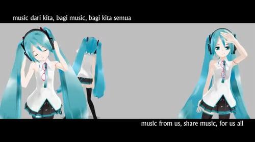 インドネシア人の初音ミク曲 「month of music」
