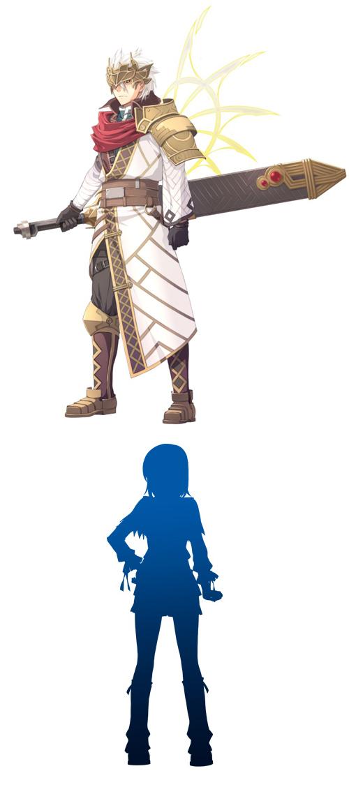 新キャラクターと謎のキャラシルエット