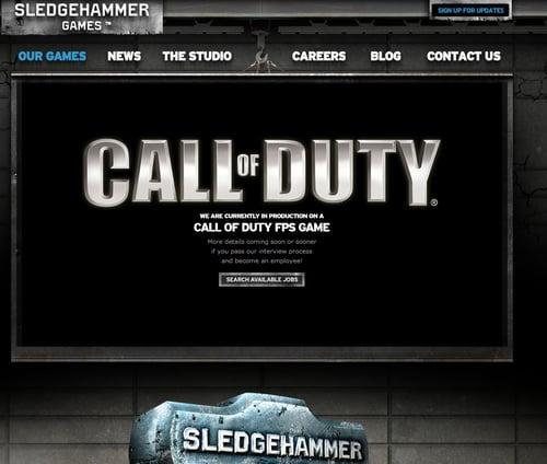 Sledgehammer Games公式サイト