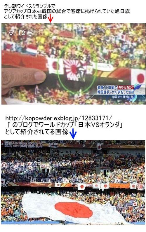 テレビ朝日が捏造した映像