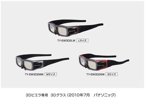 3Dビエラ専用 3Dグラス(TY-EW3D2シリーズ)