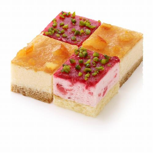 フローズンキューブケーキ イチゴ&ベイクドチーズ