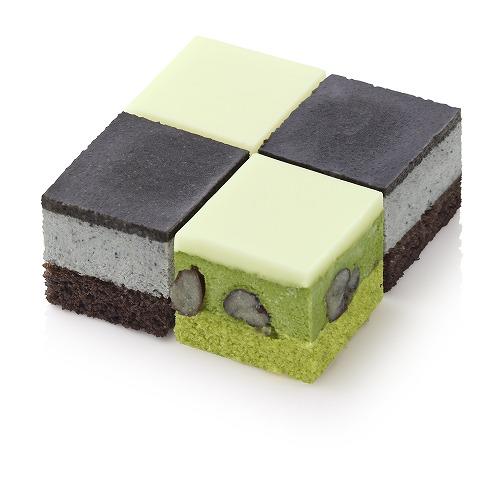 フローズンキューブケーキ 黒ごま&抹茶