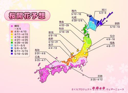 ウェザーニュース 桜開花予想