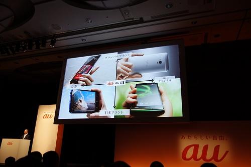 au夏モデル新機種は『HTC J One』『Xperia UL』『AQUOS PHONE SERIE』『URBANO』の4端末 『スマートパス』リニューアルやサポートサービスも発表