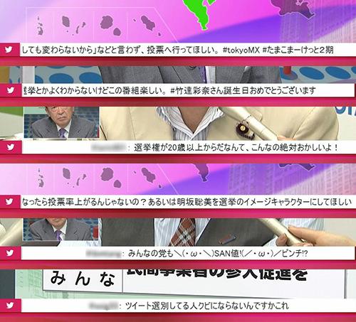 池上彰の選挙番組ツイートがアニメだらけに