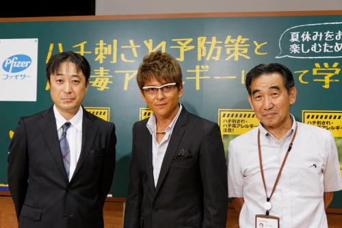 平田先生、哀川さん、酒井校長
