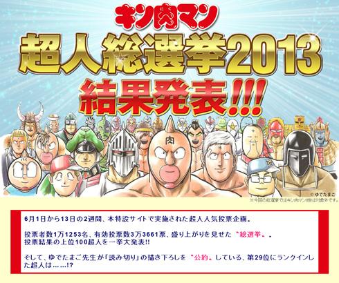 キン肉マン総選挙