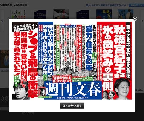 週刊文春中吊り広告