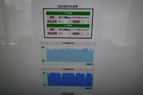 パソコンのスピードテスト結果