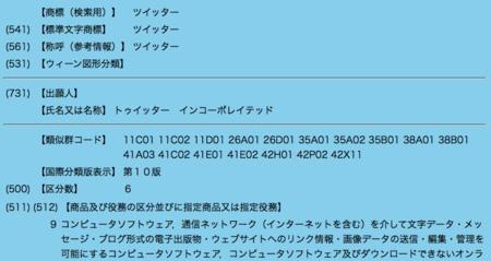 50年前に「Twitter(ツイッター)」が日本で商標登録されていた!