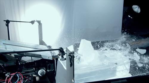 氷を落として撮影
