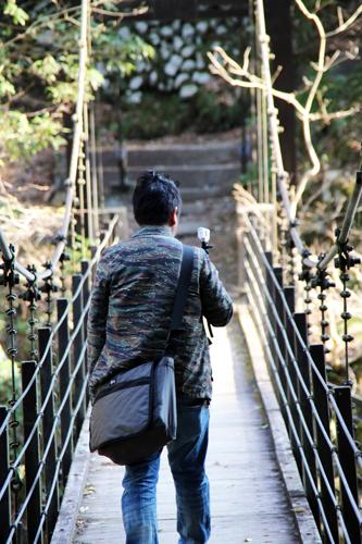 """都内にある""""超駅近""""つり橋へゴー! 『アクションカム』で散策動画を撮影"""