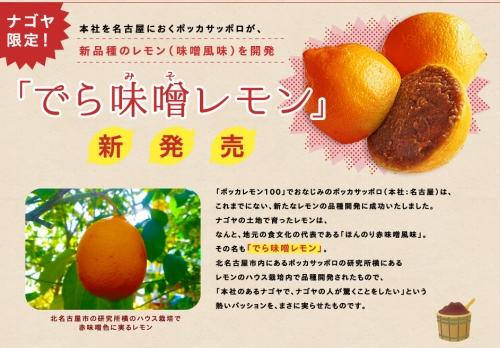 ナゴヤ限定!本社を名古屋におくポッカサッポロが、新品種のレモン(味噌風味)を開発!- ポッカサッポロ_s