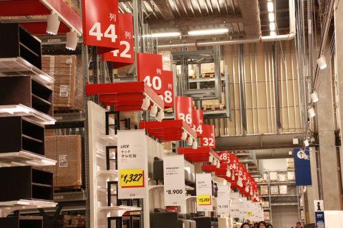IKEA 列と棚の番号