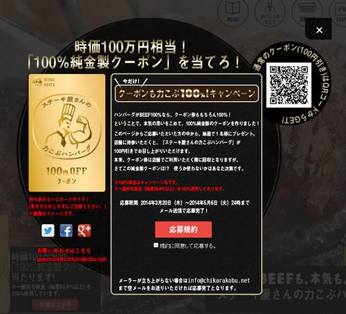 サイトには通常の100円引きクーポンも