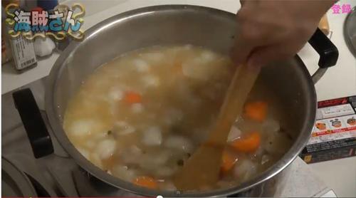 海賊さん「ゴールデンカレー バリ辛」調理3