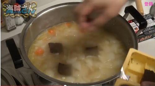 海賊さん「ゴールデンカレー バリ辛」調理2
