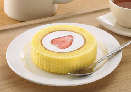 プレミアムロールケーキいちごのせ