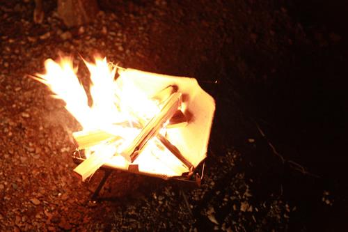モノラル焚き火台「ワイヤフレーム」
