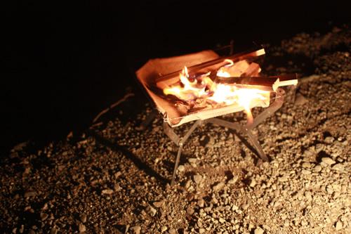 monoral-ff04モノラル焚き火台「ワイヤフレーム」