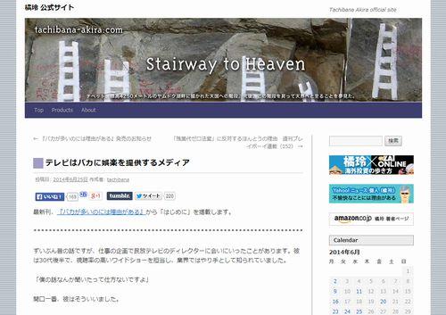 テレビはバカに娯楽を提供するメディア(Stairway to Heaven)
