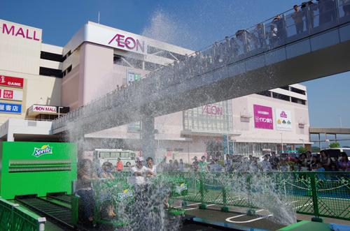 全国の会場でもびしょ濡れで大盛況! スプライトの『スプラッシュカート』神戸イベントレポート
