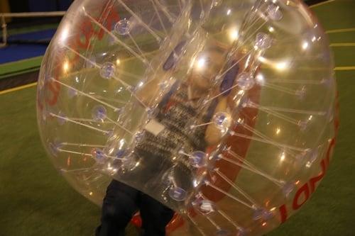 バブルで一人遊び