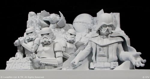大雪像「雪のスター・ウォーズ」模型