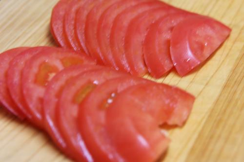 トマト飾り切り用薄切り