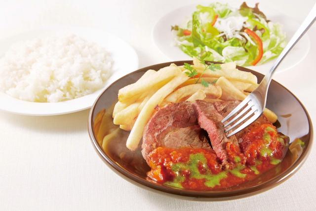 【ジョナサン】リブステーキのトマトソースセットs