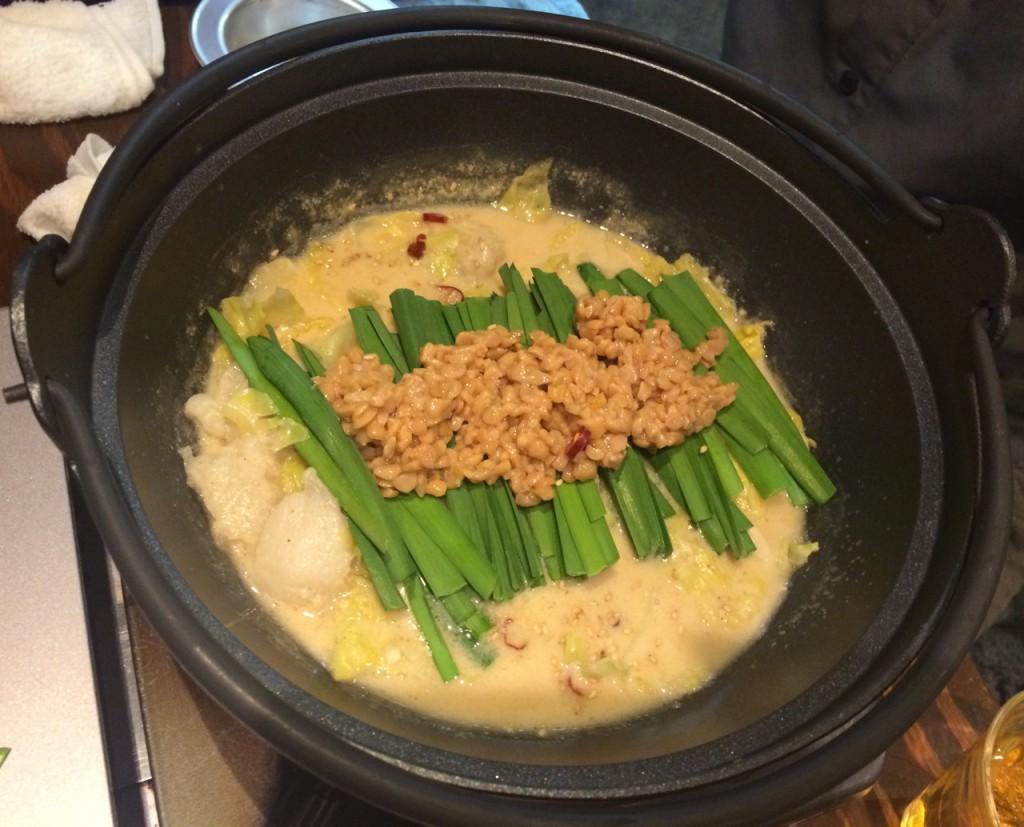 納豆もつ鍋