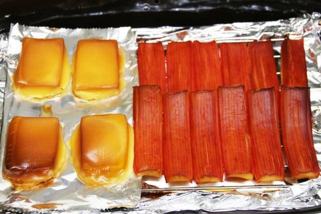 チーズとカニカマ 燻製後