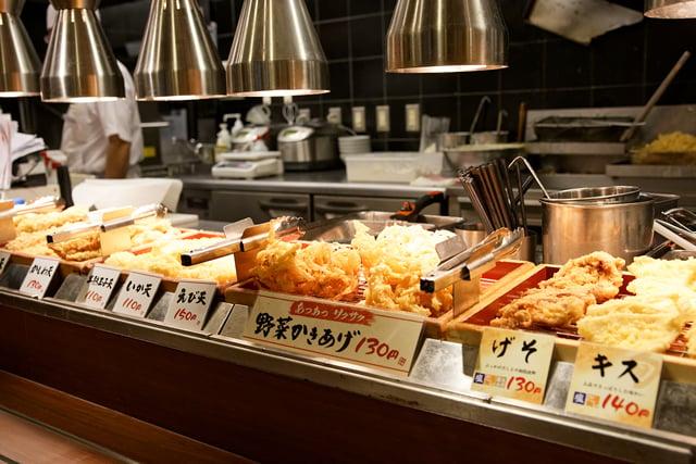 天ぷらコーナー斜め