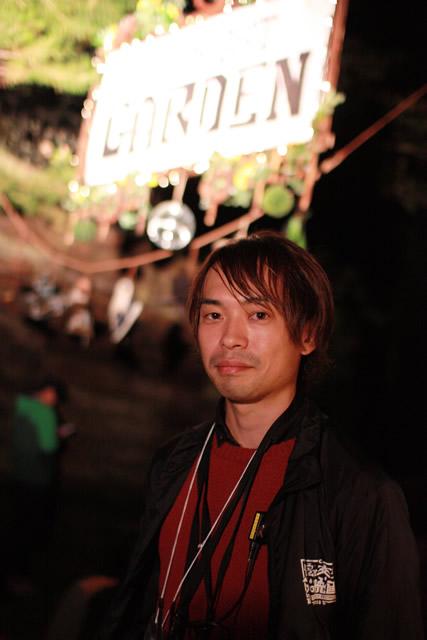 夜空と交差する森の映画祭代表 佐藤さん