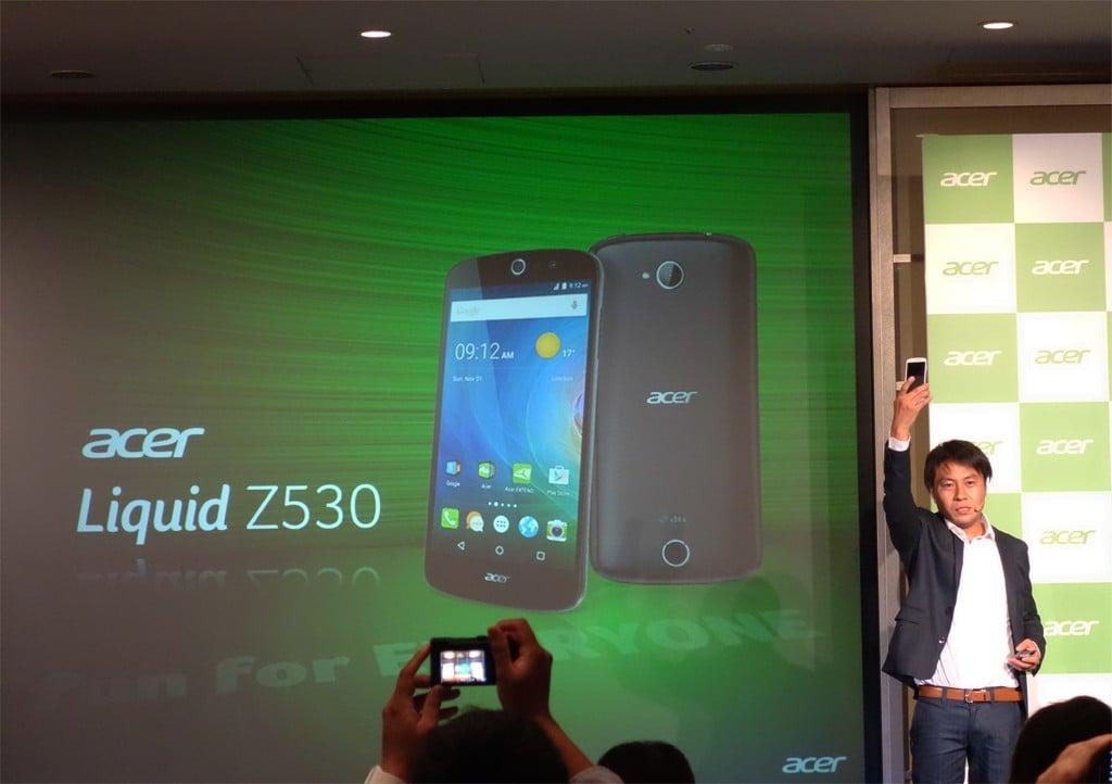 日本エイサーがSIMフリースマートフォン第1弾『Acer Liquid Z530』を発表 PC連携や自撮りに強いカメラが特徴で価格は3万円を切る模様