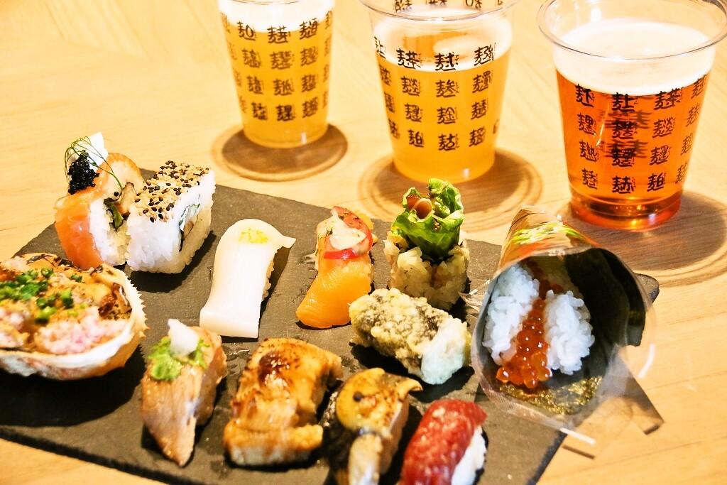 寿司ビール色補正