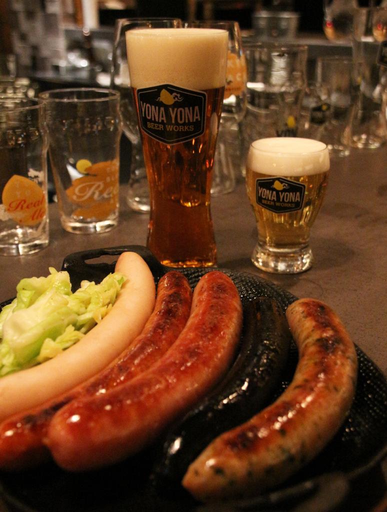 ビールとウィンナー