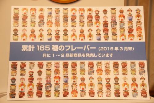 165種類のフレーバー
