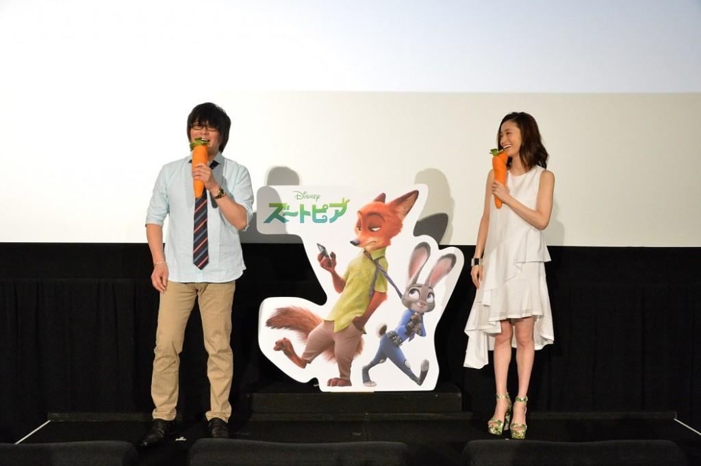 左から)森川智之_上戸彩「ズートピア」サブ2