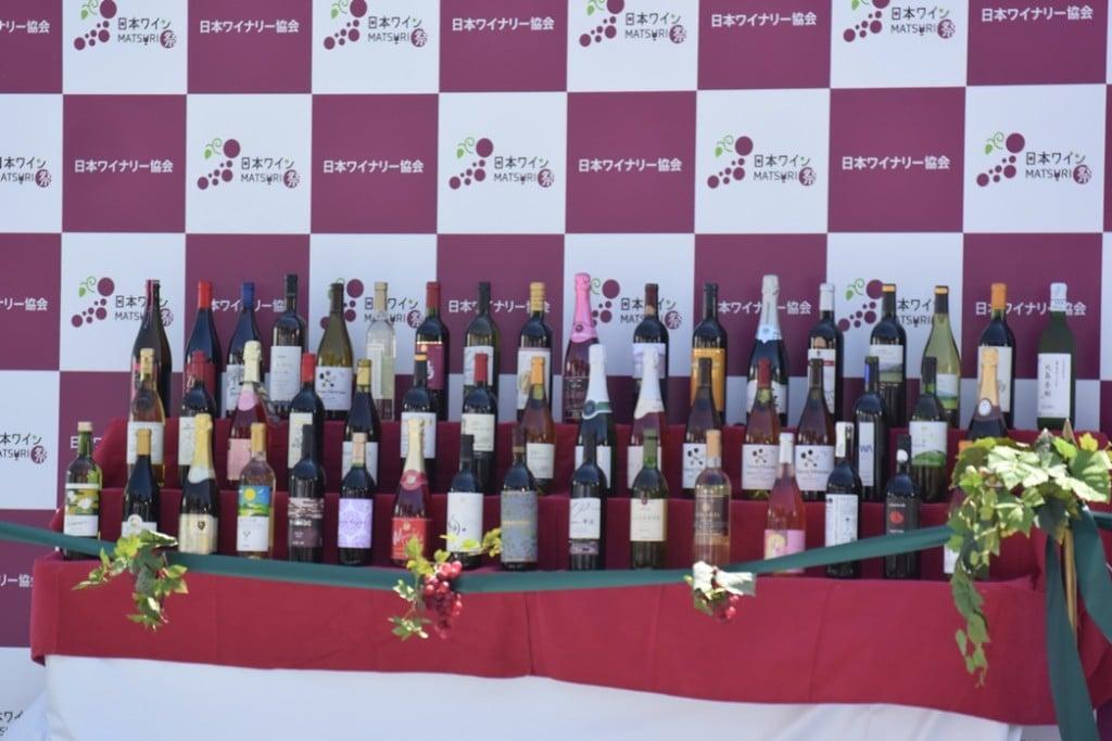 【日本ワイン祭り】ワイン陳列の様子