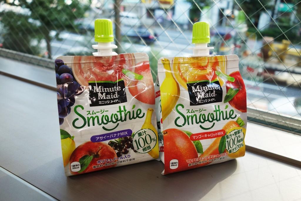 アサイーやニンジンを果実ピューレでおいしく飲めるお手軽スムージー『ミニッツ メイド スムージー』試飲レビュー [PR]