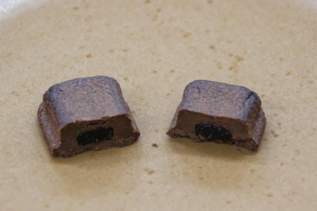 チョコレート半分