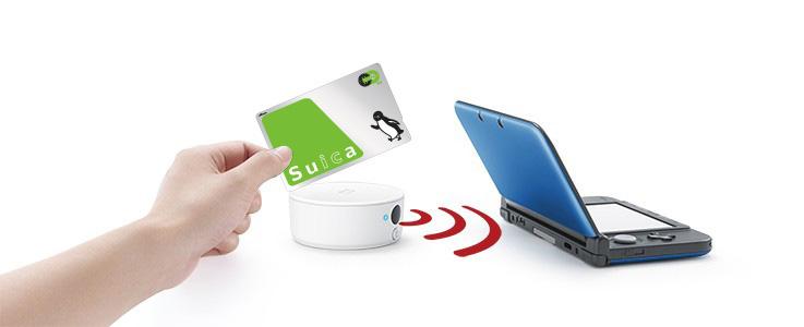 旧3DS+NFCリーダーライター使用イメージ
