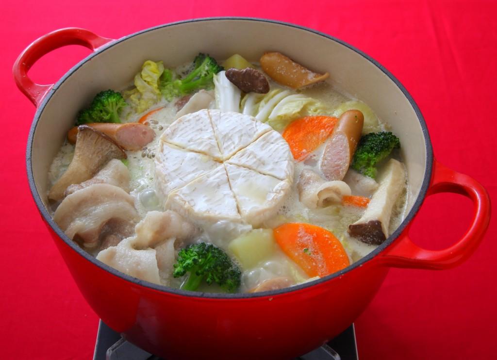 【Mizkan】カマンベールのごま豆乳鍋