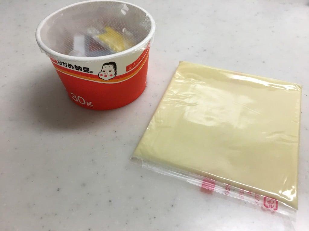 チーズと納豆