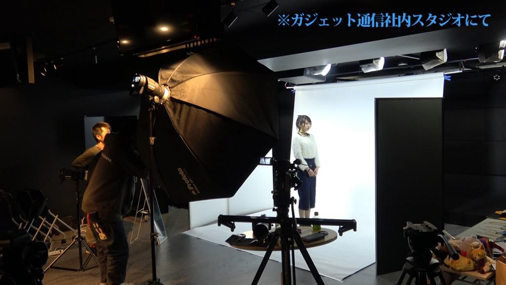 スタジオ撮影風景