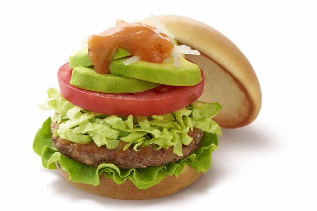 170425_アボカドサラダバーガー 5種の野菜とレモンのソース