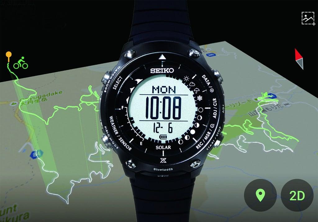 スマホ連携で行動軌跡を3Dマップに表示できるソーラーウォッチ 『セイコー プロスペックス』新製品『ランドレーサー』を6月9日に発売へ
