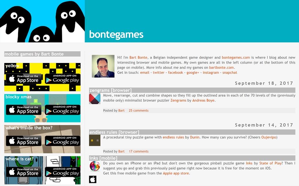 孤高のゲーム作家 ボンテさんのゲームがおもしろい!